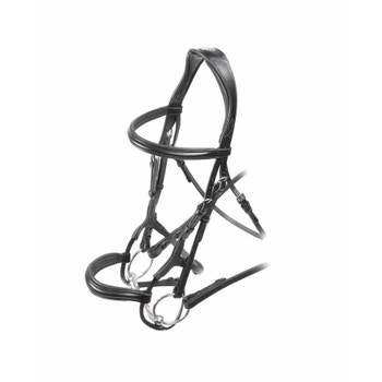Velociti Rolled Padded Cavesson Bridle