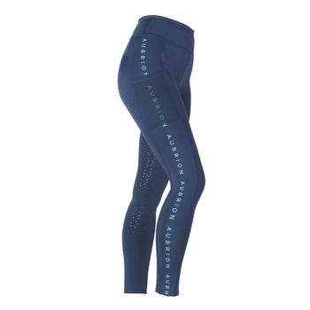Aubrion Brook Logo Riding Tights