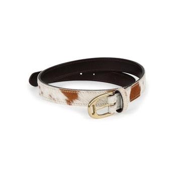 Aubrion 25mm Cow Hair Skinny Belt