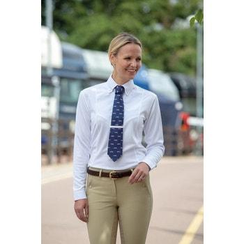 Long Sleeve Tie Shirt - Ladies